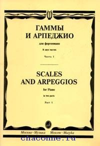 Гаммы и арпеджио для фортепиано часть 1я
