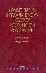 Комментарий к гражданскому кодексу часть 1я