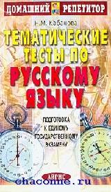 Тематические тесты по русскому языку