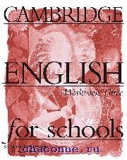 Cambridge English for schools 3 WB