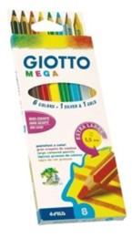 Карандаши 8 цв Giotto Mega гексагональной формы утолщенные 225400