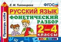 Русский язык 2-4 кл. Фонетический разбор. Проверь себя